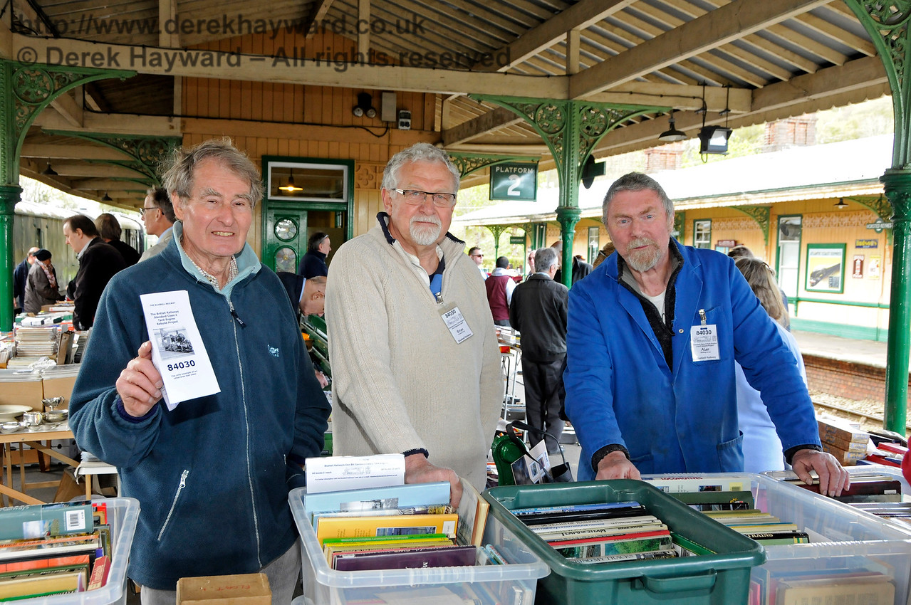The 84030 team.  Bluebell Railway Toy and Rail Collectors Fair, Horsted Keynes Station, 30.04.2016 14998
