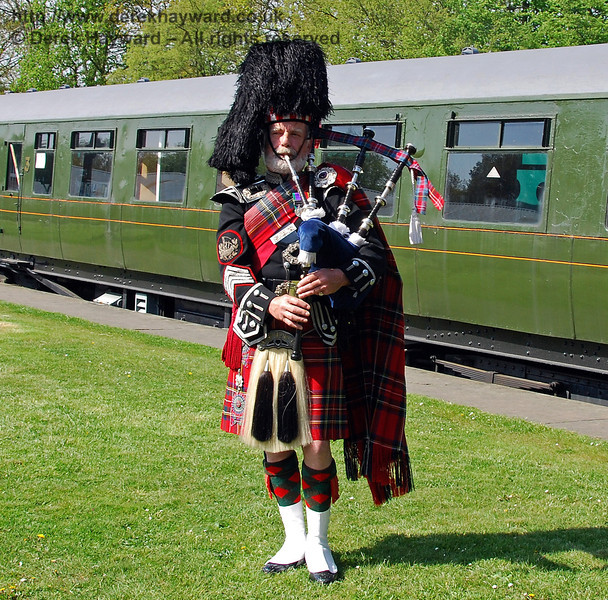 A piper played at the naming ceremony. Horsted Keynes 24.04.2009  0001