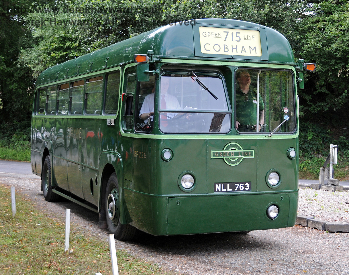 RF 226 (MLL763) which operated the vintage bus tours around Kingscote, Imberhorne and East Grinstead. 07.08.2010   3765