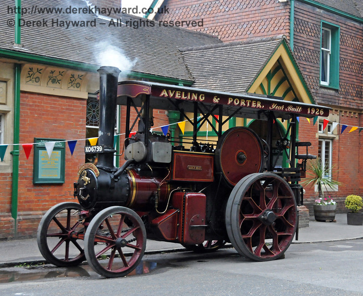 A traction engine at Horsted Keynes Station. 06.08.2010  3621