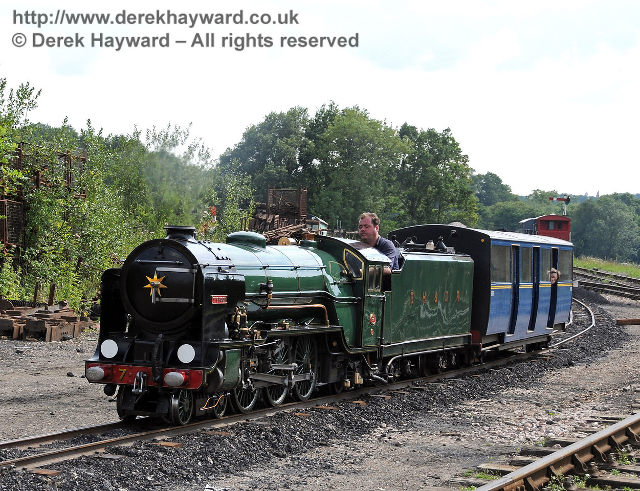 Typhoon (Number 7) from the Romney Hythe and Dymchurch Railway giving rides in Horsted Keynes Down Yard. 08.08.2010  3859