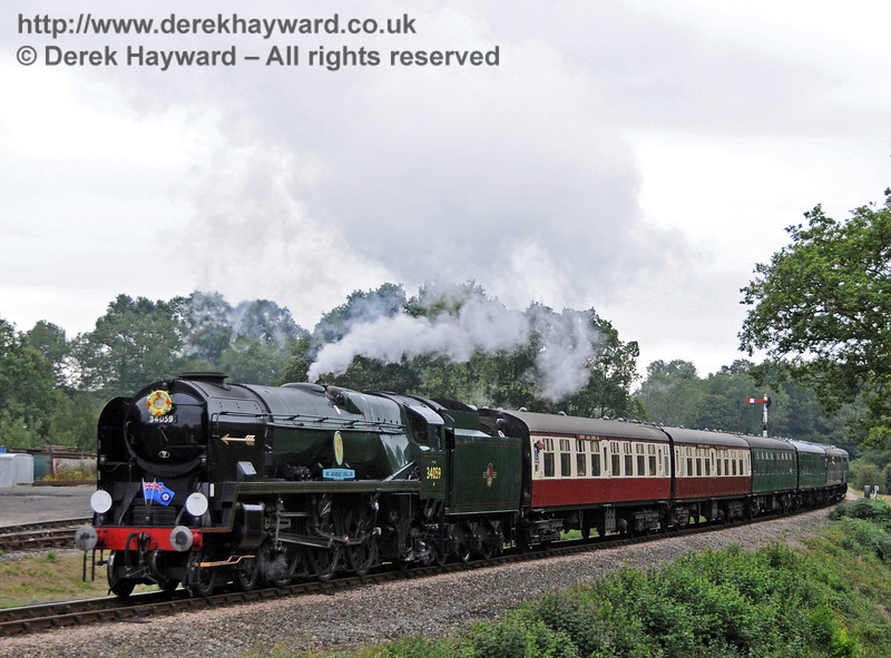 34059 carrying a wreath in memory of the late and much respected Norman Blake. 06.08.2010   3659