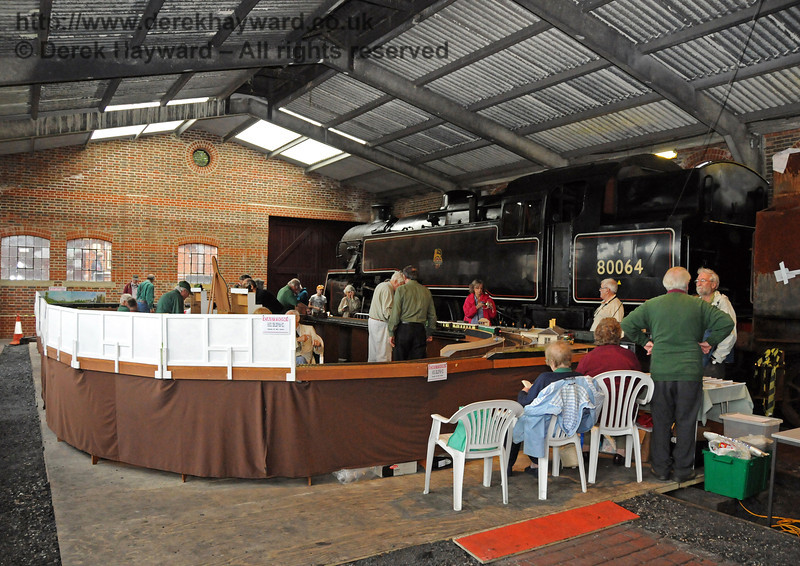 A large model railway occupied the north end of Sheffield Park Shed. 06.08.2010  3550