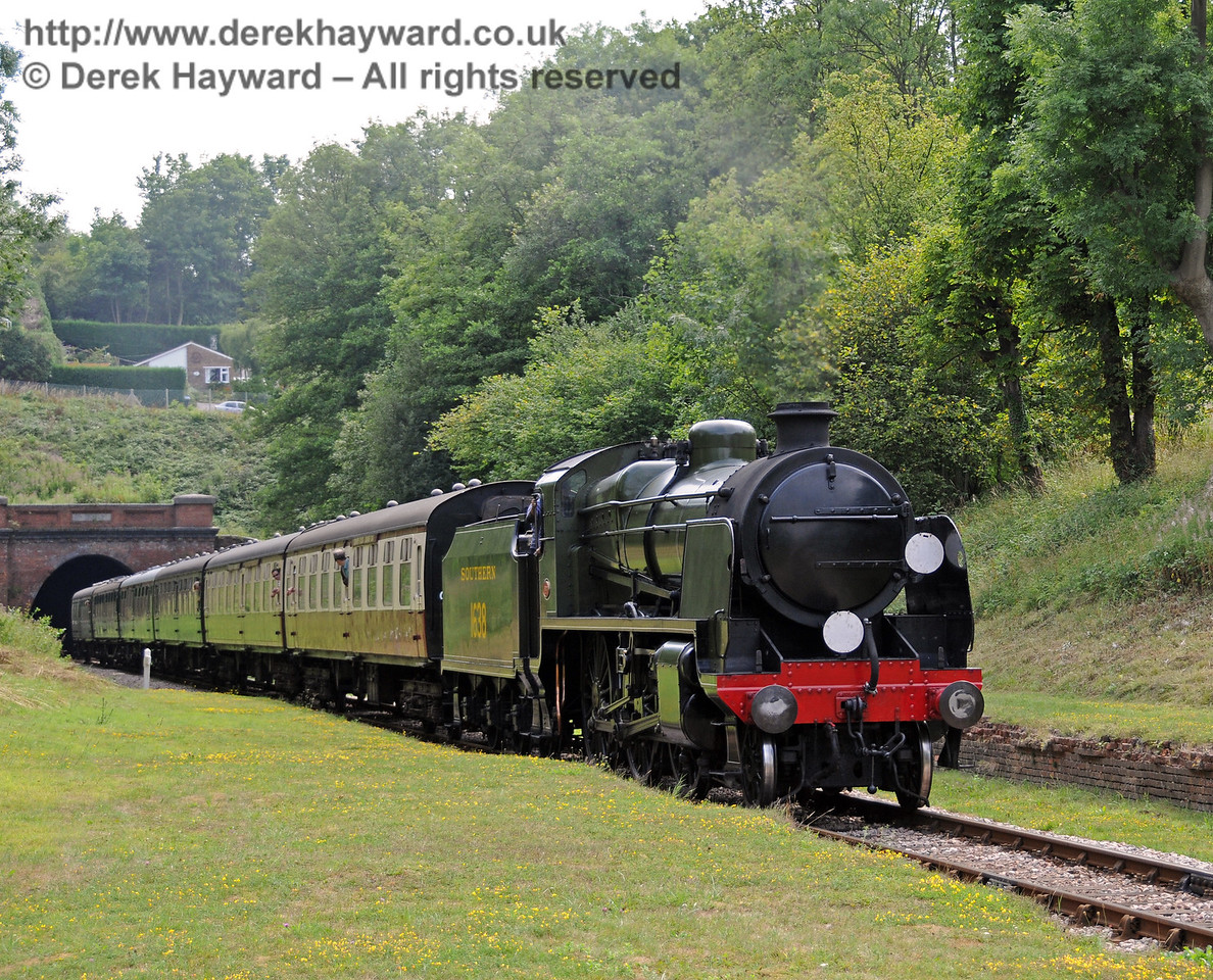 1638 emerges from West Hoathly tunnel. 08.08.2010  3844
