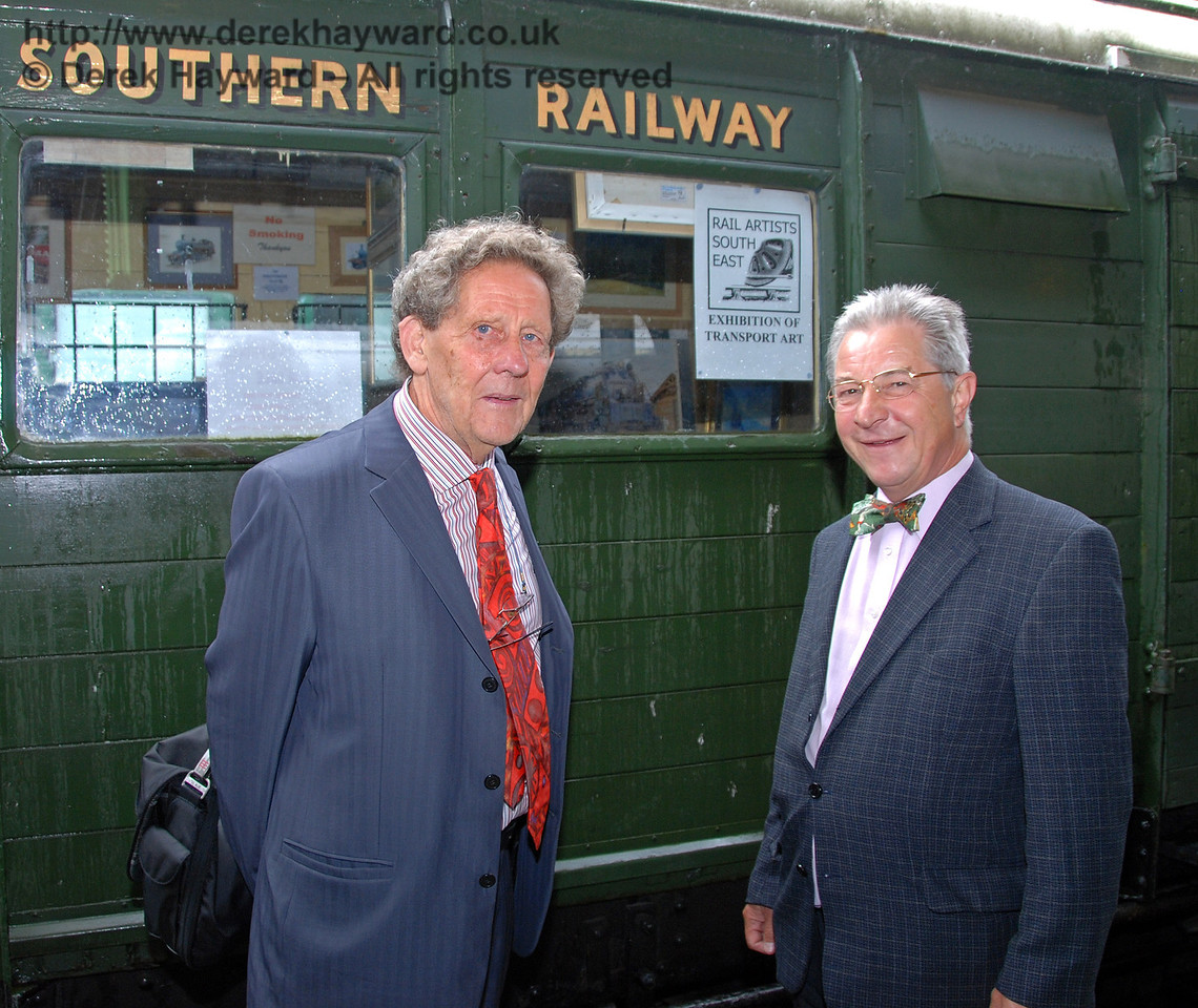 Gordon Pettitt OBE (on the left) poses under a sign that was (nearly) appropriate to his former occupation. Horsted Keynes 07.08.2009