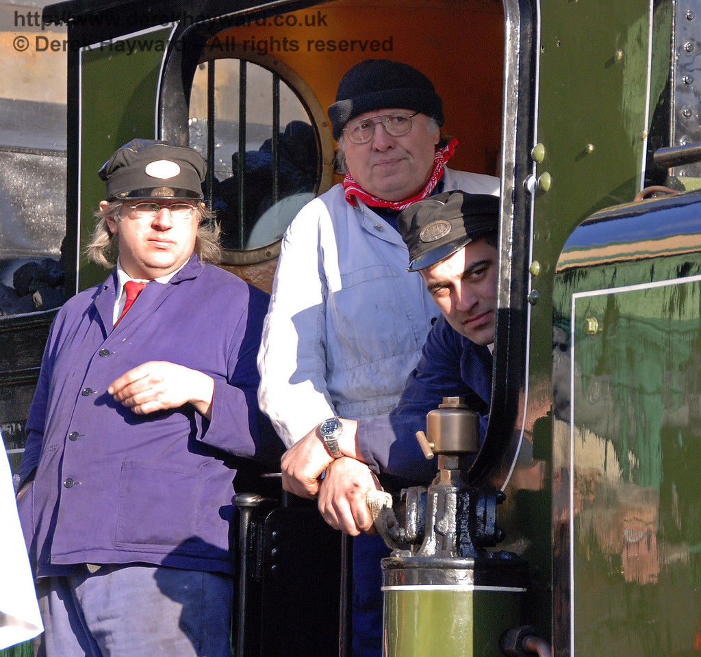 The crew watch the speeches. Horsted Keynes 30.01.2010  78