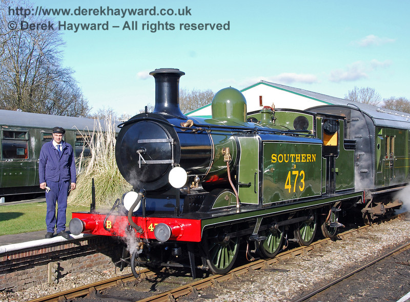 Ben Weatherall poses alongside B473. Horsted Keynes 30.01.2010  02
