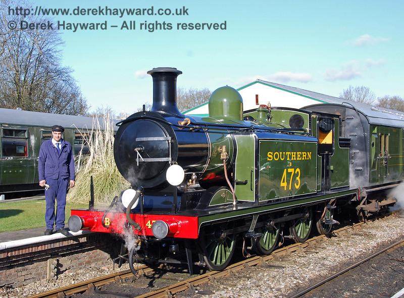 Ben Weatherall poses alongside B473. Horsted Keynes 30.01.2010  02