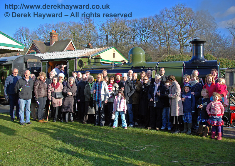 The residents of Birch Grove pose with their engine. Horsted Keynes 30.01.2010. 131  This image was made available at the time in high resolution - please contact me for details.