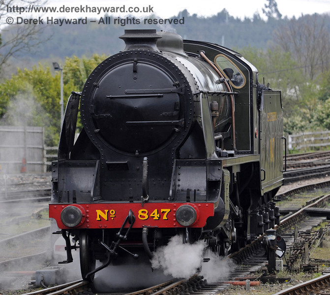 847 at Sheffield Park, with the bride and groom on board.  05.04.2014  8911