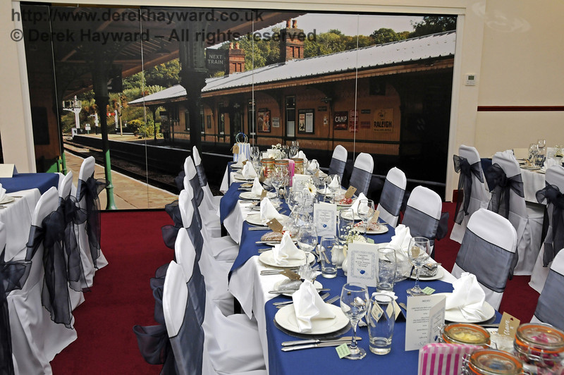 The Birch Grove Suite at Sheffield Park Station, dressed for the wedding of Jennifer and Sean Montgomery.  05.04.2014  10256