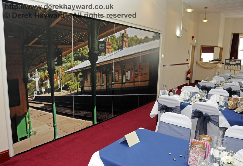 The Birch Grove Suite at Sheffield Park Station, dressed for the wedding of Jennifer and Sean Montgomery.  05.04.2014  10258