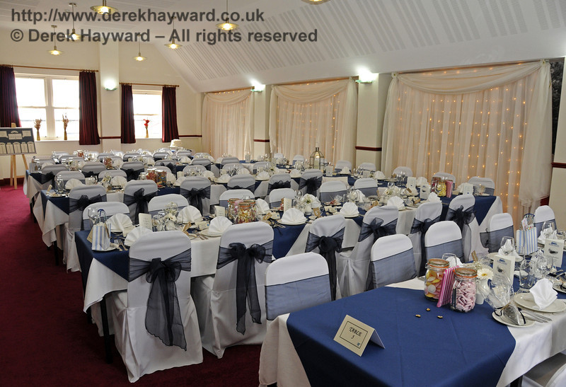 The Birch Grove Suite at Sheffield Park Station, dressed for the wedding of Jennifer and Sean Montgomery.  05.04.2014  10252