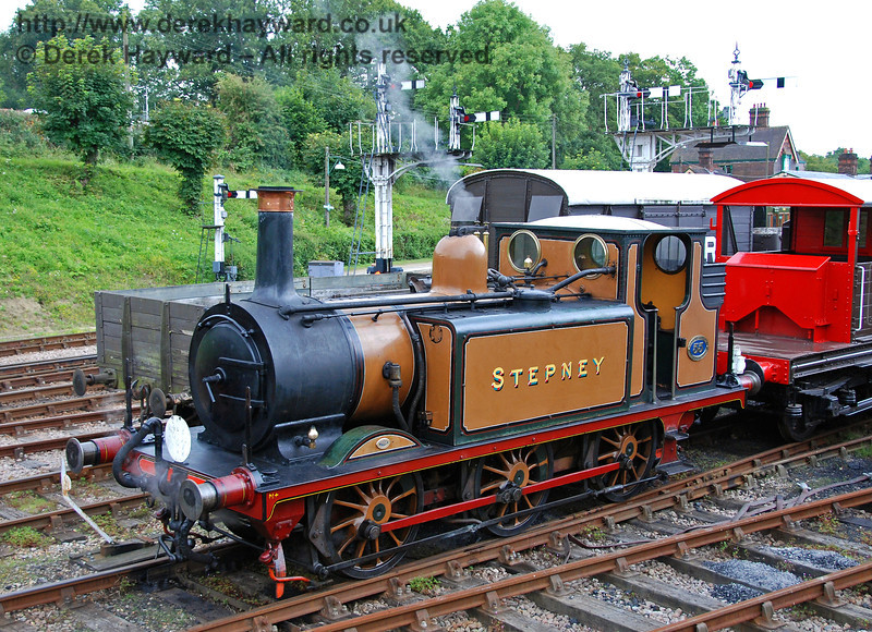 Stepney poses in the up sidings at Horsted Keynes. 12.08.2007