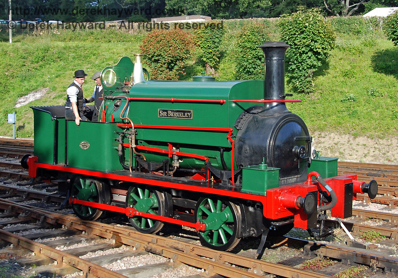 Visiting engine Sir Berkeley poses at Horsted Keynes. 12.08.2007