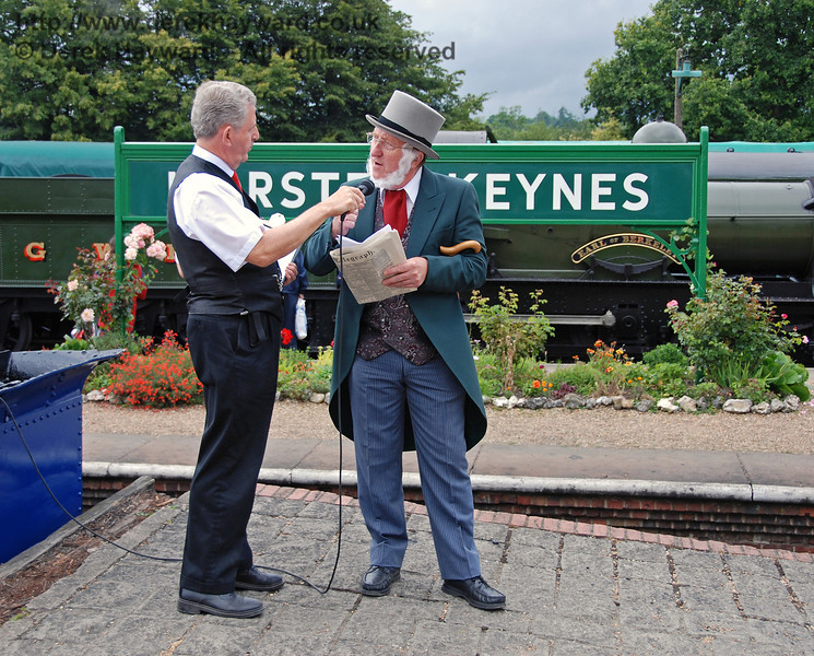 The Earl of Sheffield is interviewed at Horsted Keynes 12.08.2007