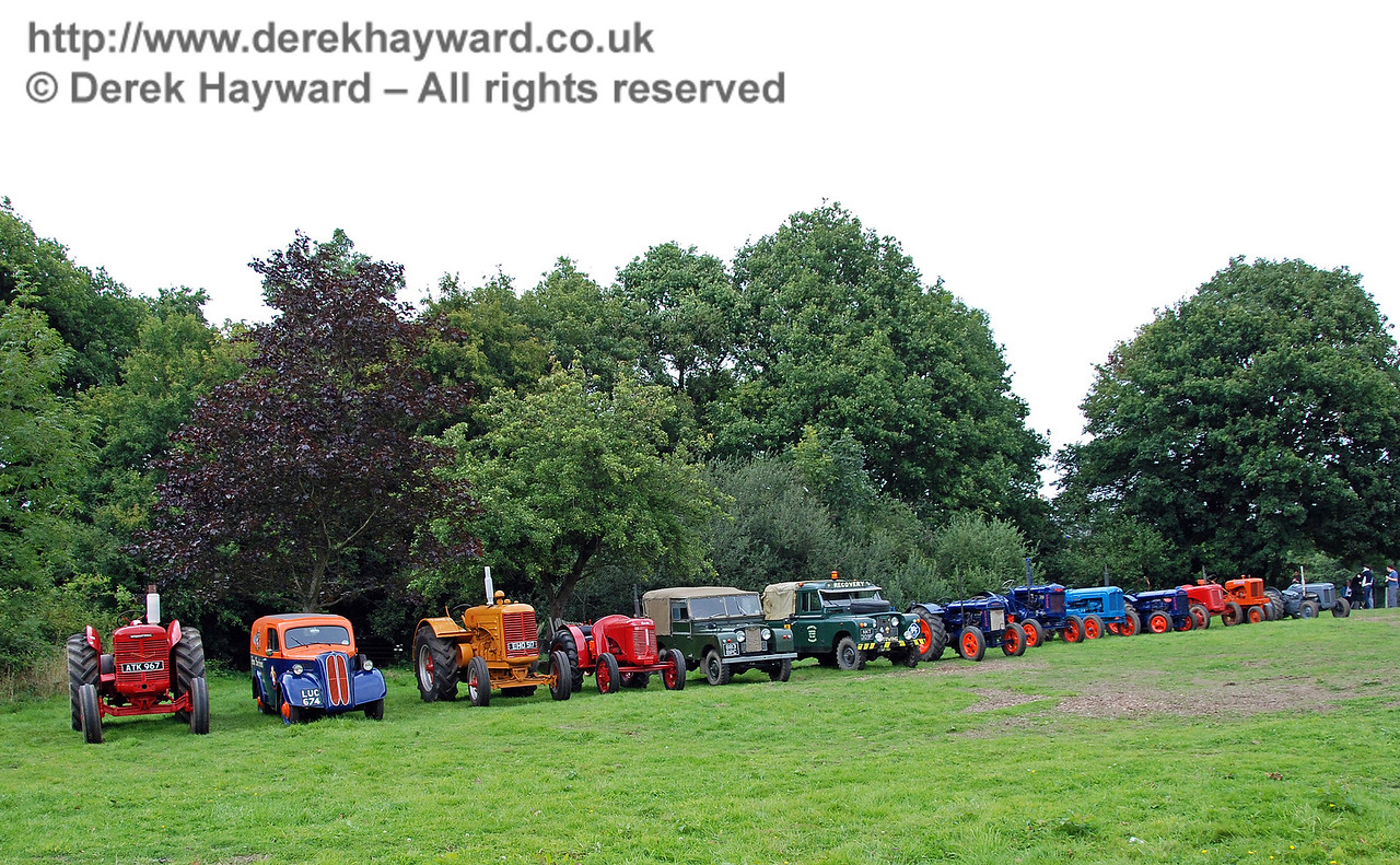 A display of tractors at Horsted Keynes 12.08.2007