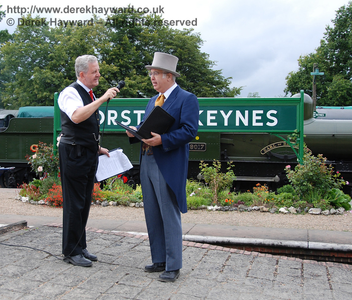 Joseph Firbank is interviewed at Horsted Keynes 12.08.2007