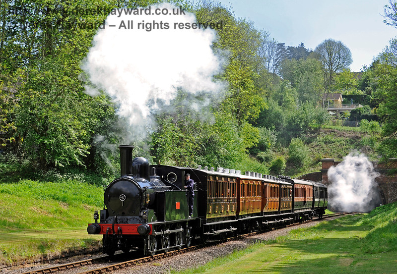 The Coal Tank steams through the site of the former West Hoathly station. 13.05.2017 15218