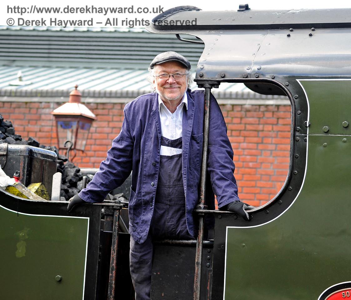 A smiling crew member.  Sheffield Park 20.05.2017 15308