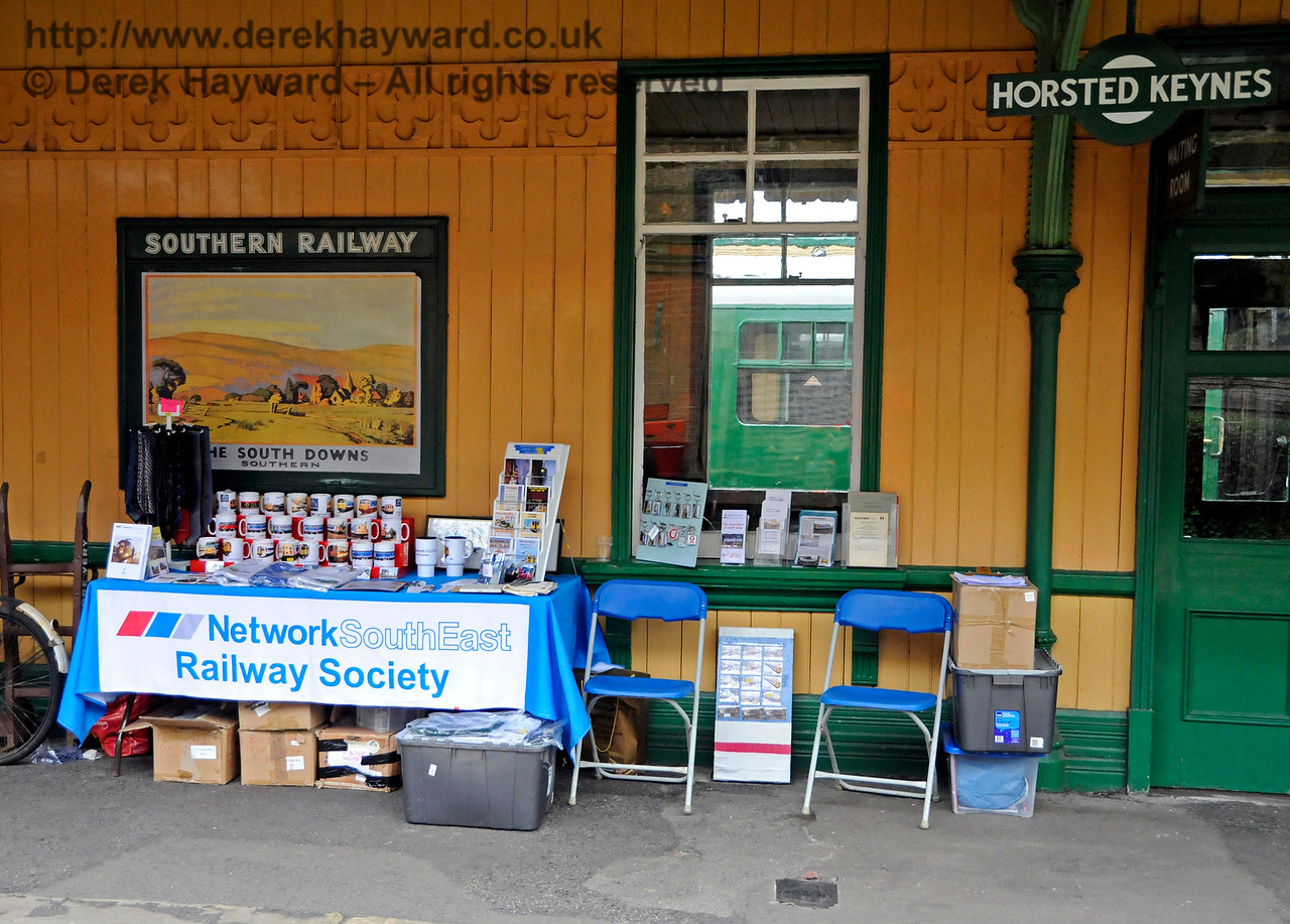 The Network South East Railway Society stand at Horsted Keynes.  Bluebell Railway Diesel Gala, in association with GBRailfreight. 16.04.2016  14857