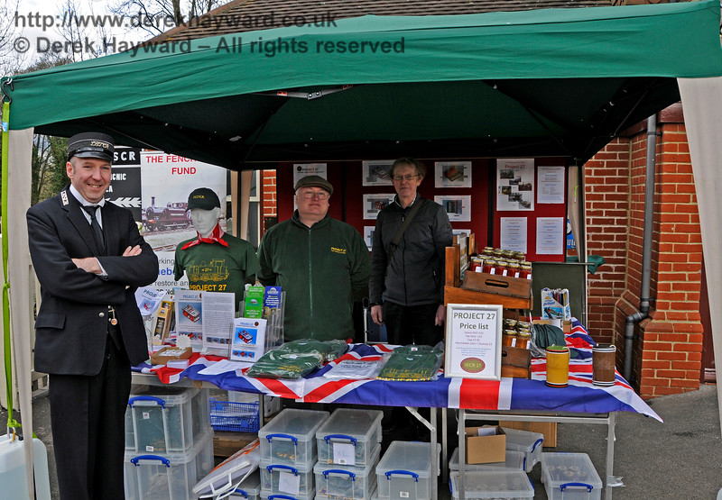 The Project 27 stand at Sheffield Park.  Bluebell Railway Diesel Gala, in association with GBRailfreight. 16.04.2016  14847