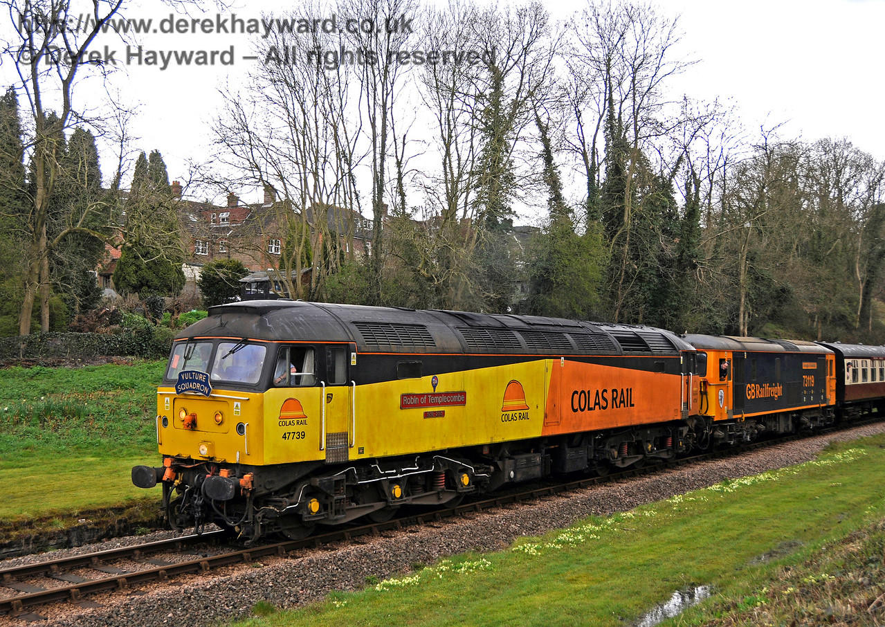 47739 at the site of the former West Hoathly station.  Bluebell Railway Diesel Gala, in association with GBRailfreight. 16.04.2016  14781