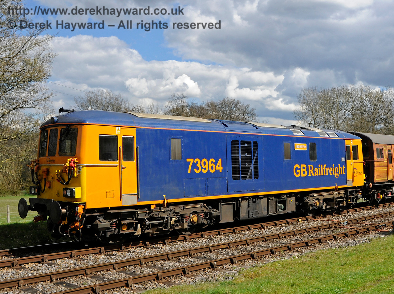 73964 at Kingscote.  Bluebell Railway Diesel Gala, in association with GBRailfreight. 17.04.2016  14902