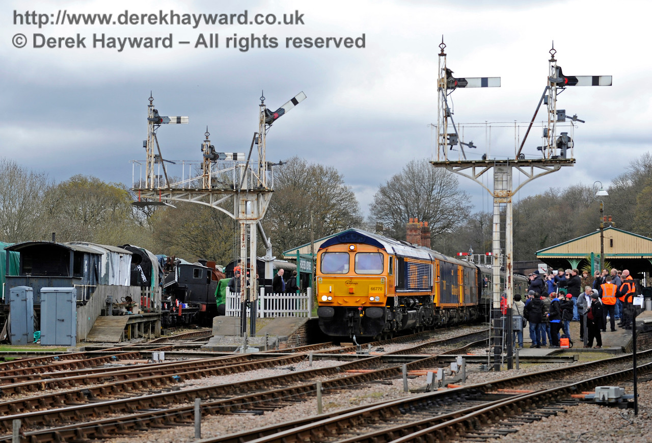 Horsted Keynes station with the gala in full swing.  Bluebell Railway Diesel Gala, in association with GBRailfreight. 16.04.2016  12748