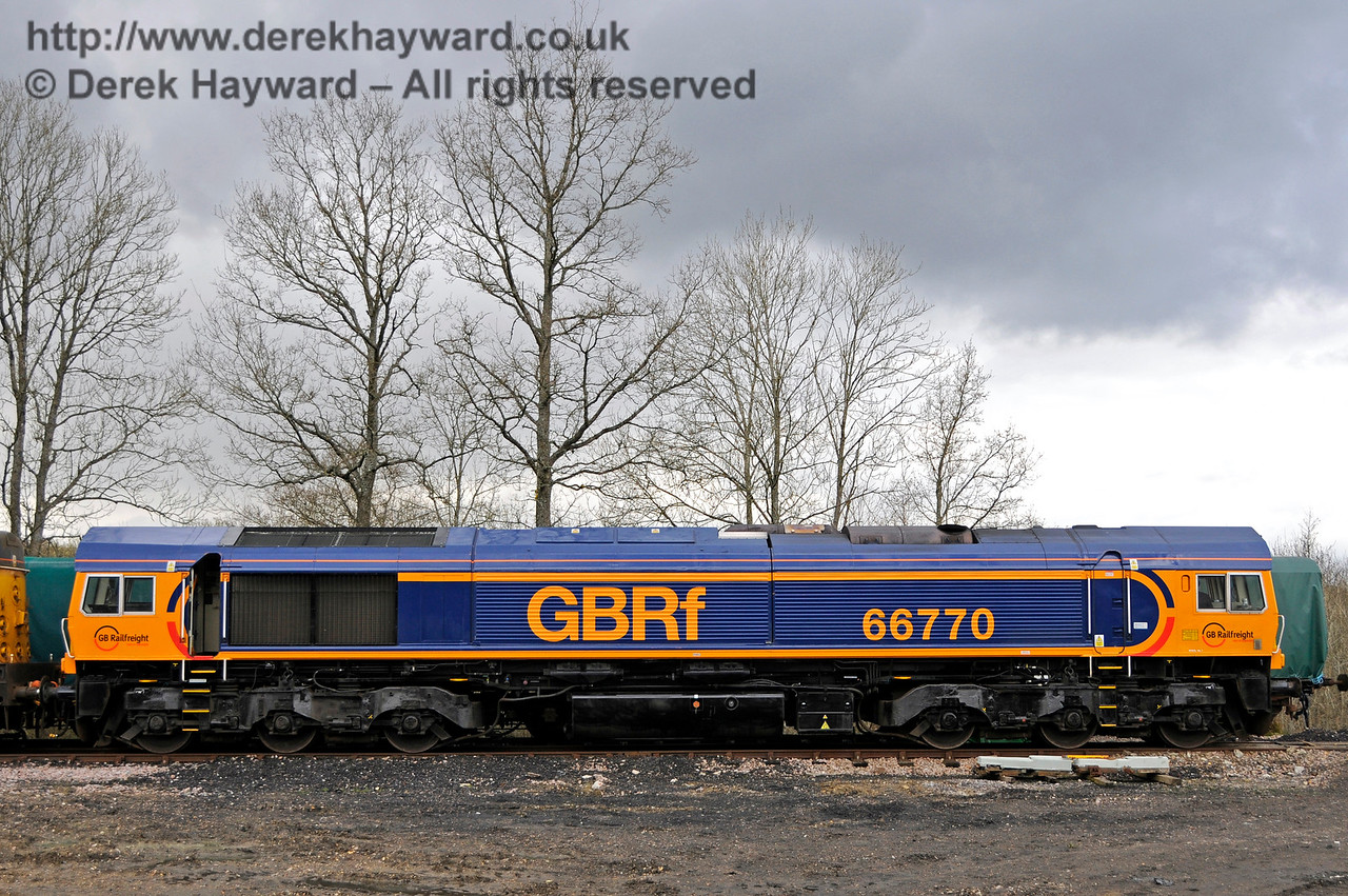 66770 in the Ardingly Spur at Horsted Keynes.  Bluebell Railway Diesel Gala, in association with GBRailfreight. 16.04.2016  14862