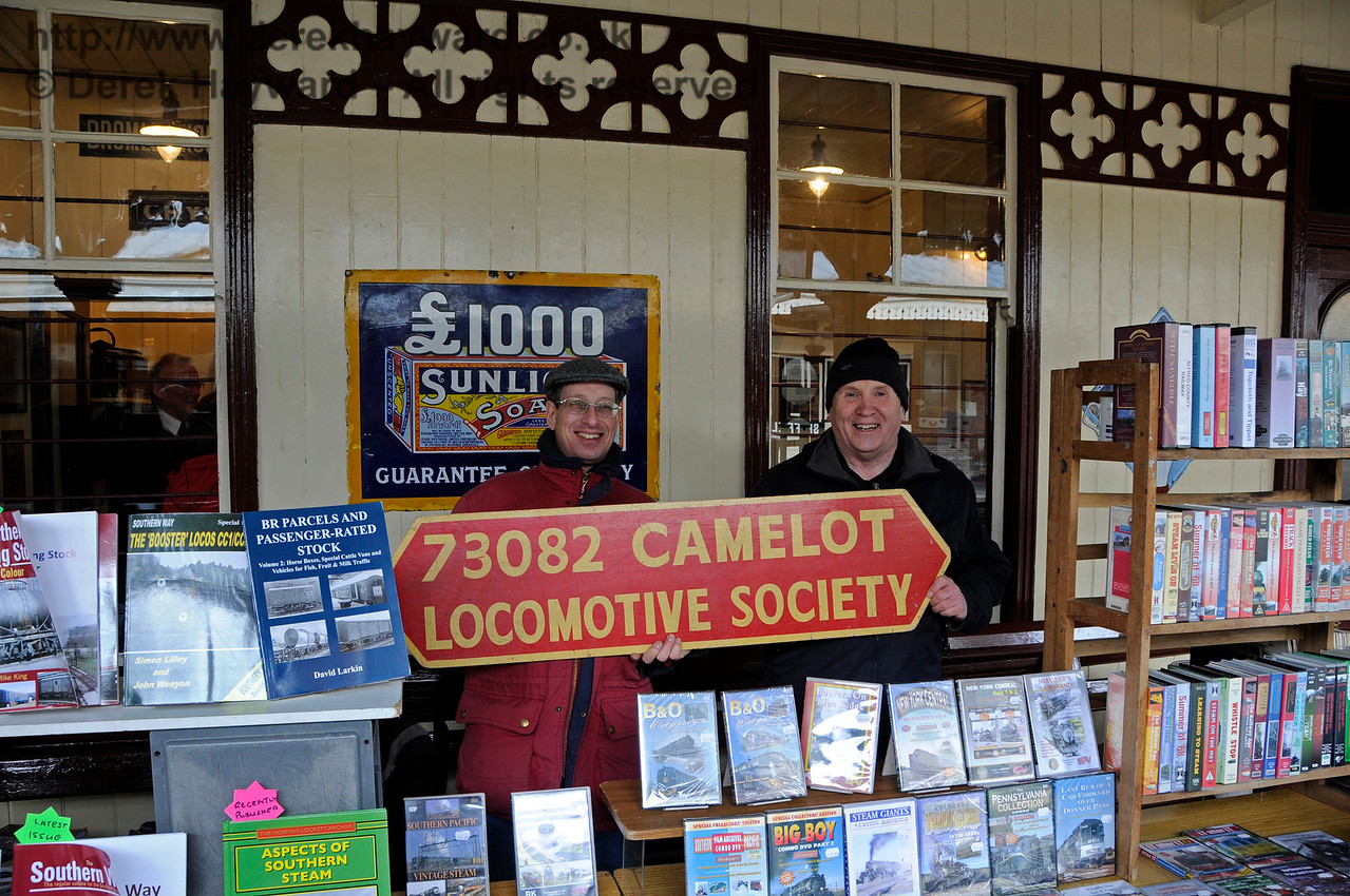 The Camelot Society stand at Sheffield Park.  Bluebell Railway Diesel Gala, in association with GBRailfreight. 16.04.2016  14843