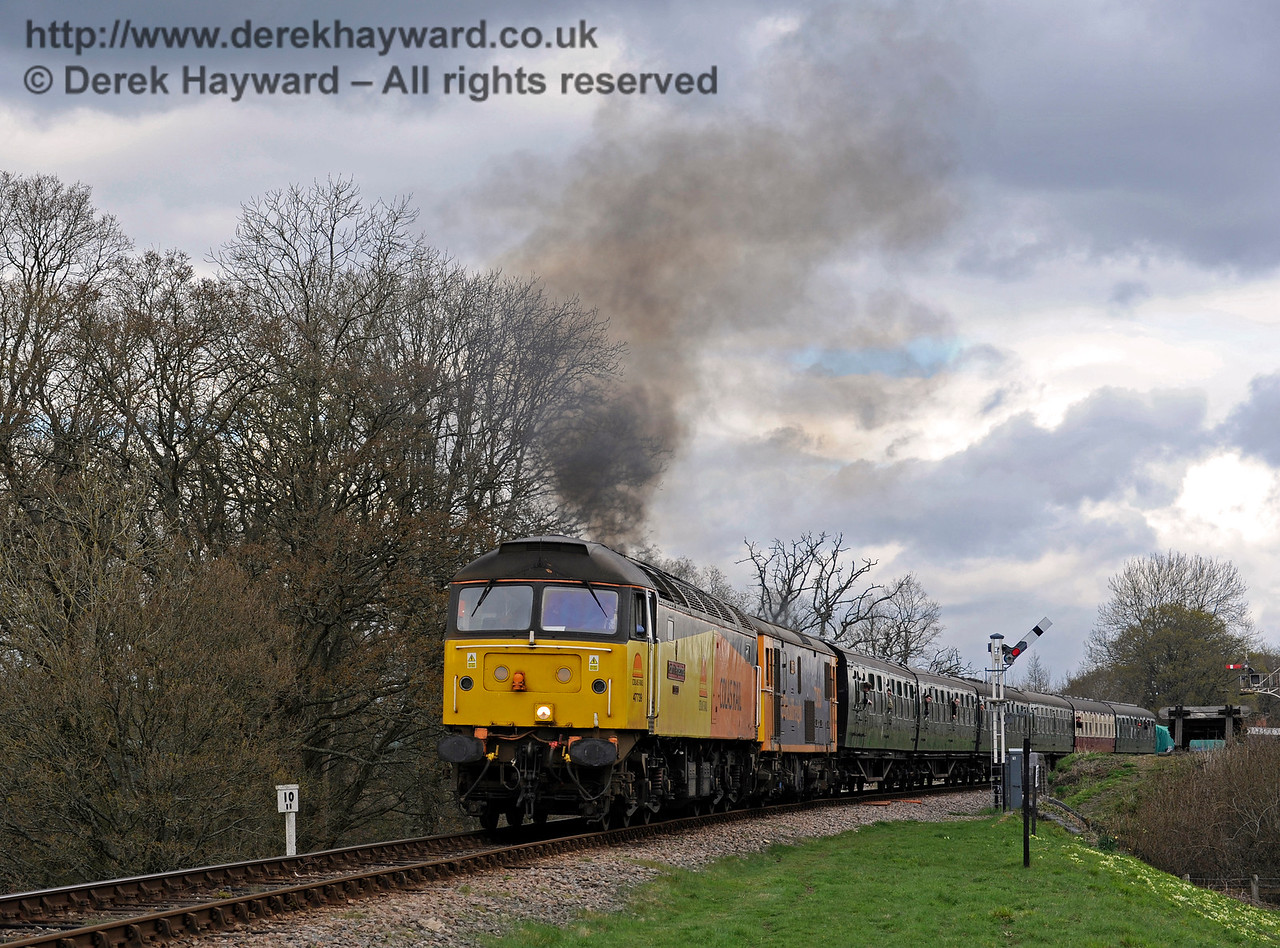 47739 leads a Class 73 south across New Road Bridge.  Bluebell Railway Diesel Gala, in association with GBRailfreight. 16.04.2016  12807