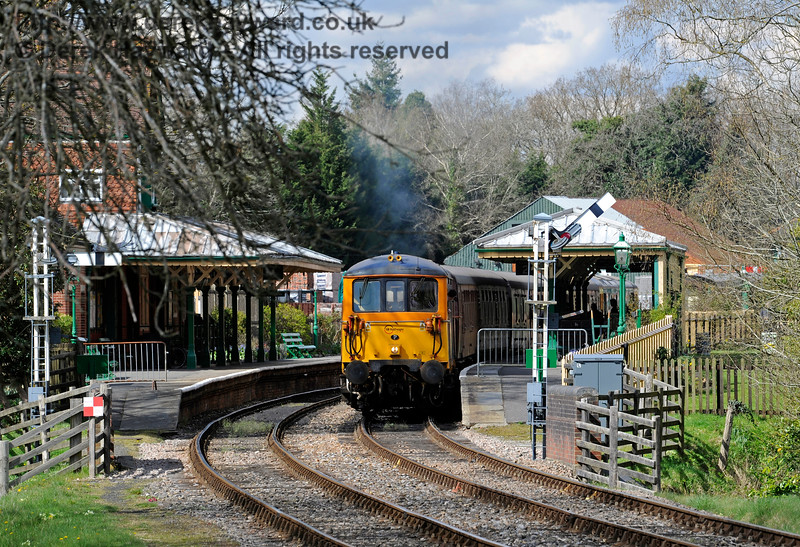 The sight of a Class 73 at Kingscote is becoming increasingly common.  What would the pioneers of the railway have made of this view?  Bluebell Railway Diesel Gala, in association with GBRailfreight. 17.04.2016  12847