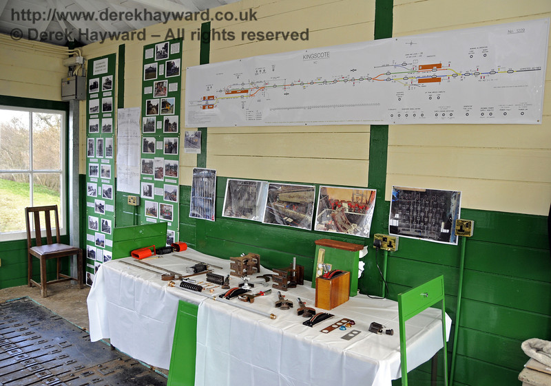 An S&T display in the Kingscote North Signal Box.  21.03.2014  10089