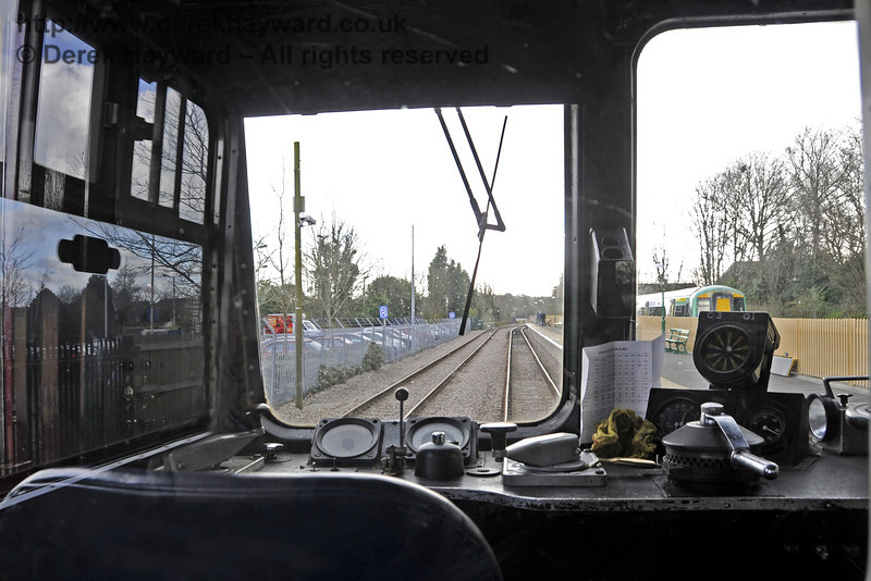 A view through into the driver's cab from the First Class seating area.  21.03.2014  10109