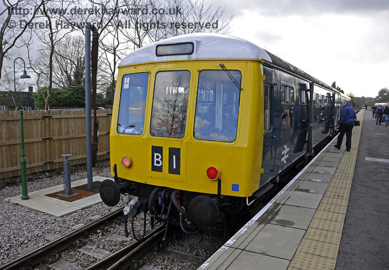 The DMU stands at East Grinstead.  21.03.2014  10105