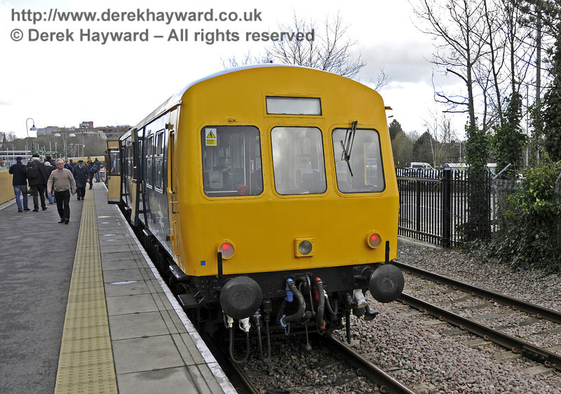The DMU stands at East Grinstead.  21.03.2014  10104