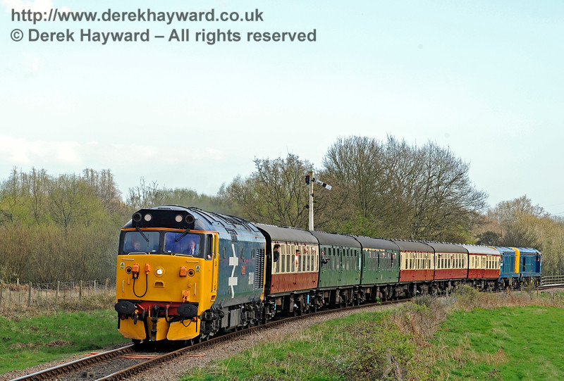 Class 50 and Class 20s leaving SP 020417 14934 E