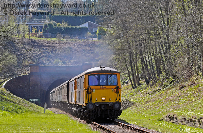 Class 73s West Hoathly Tunnel 020417 14840 E