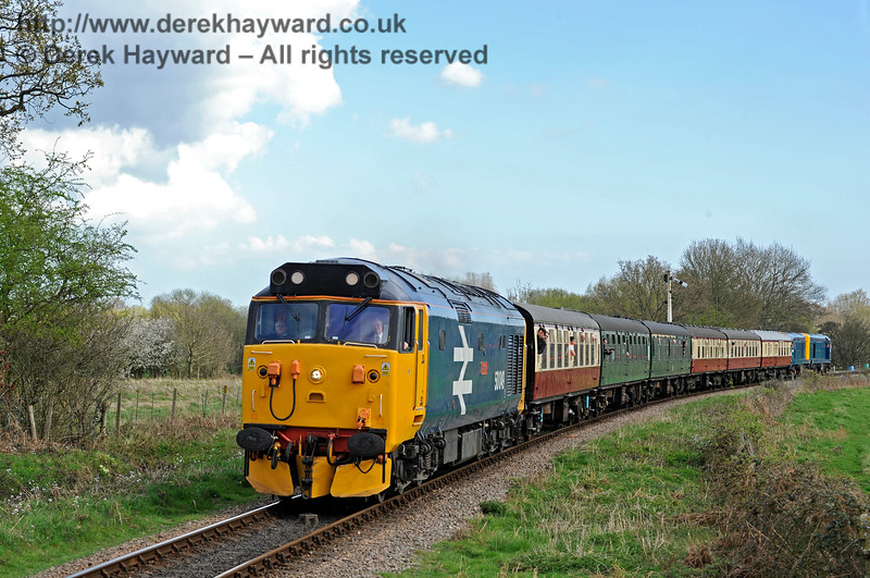 Class 50 and Class 20s approaching Ketches Halt 020417 14938 E