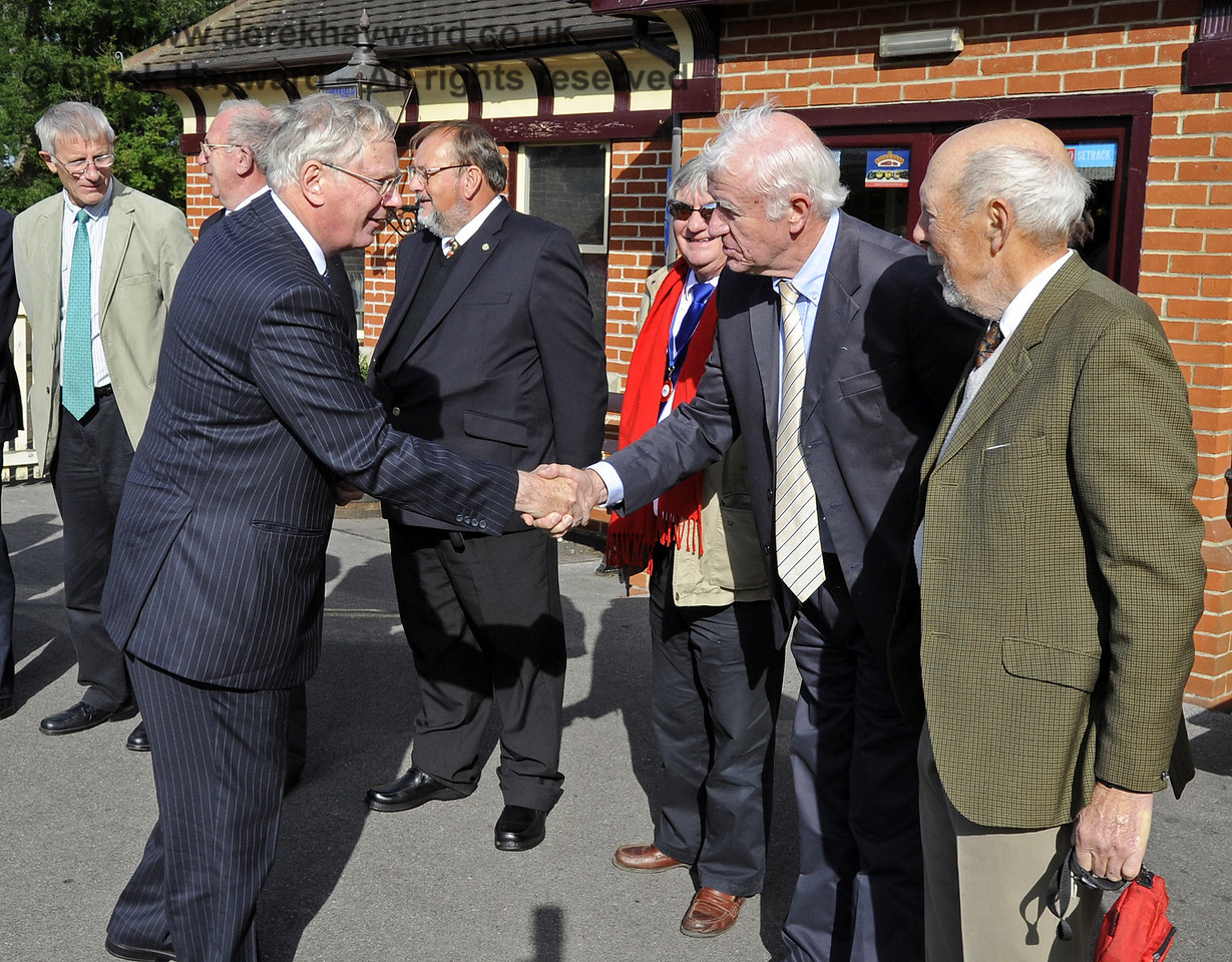Richard Patton is presented to the Duke of Gloucester.  10.10.2013  8244