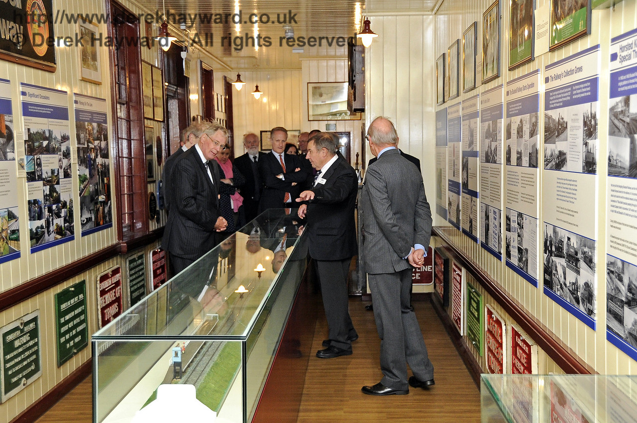 The Duke of Gloucester views the Bluebell Railway Museum.  10.10.2013  8273
