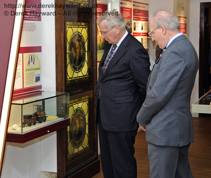 The Duke of Gloucester views the Bluebell Railway Museum.  10.10.2013  8279