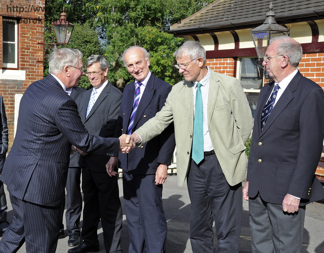 Clive Anstice is presented to the Duke of Gloucester.  10.10.2013  8237