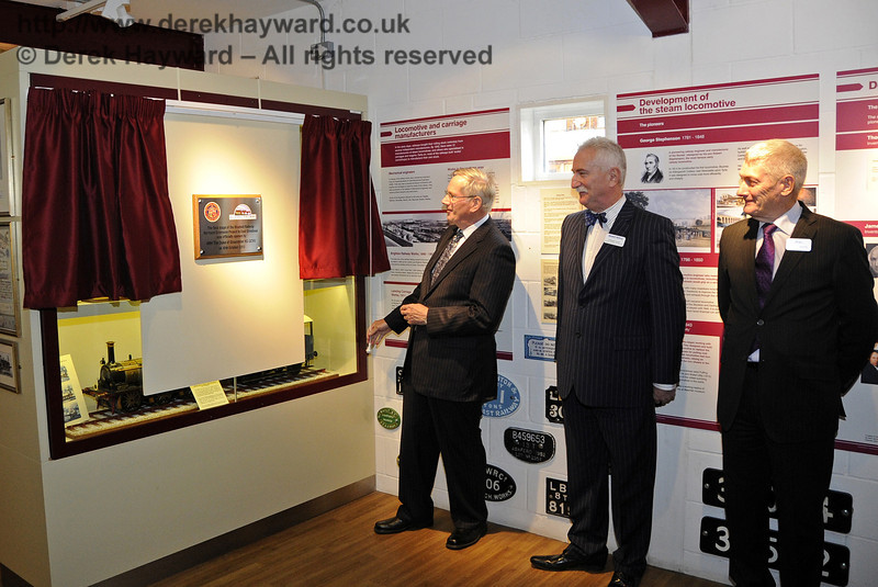 The Duke of Gloucester, KG, GCVO, is invited to unveil a plaque to mark his visit to the Bluebell Railway.  10.10.2013  8287