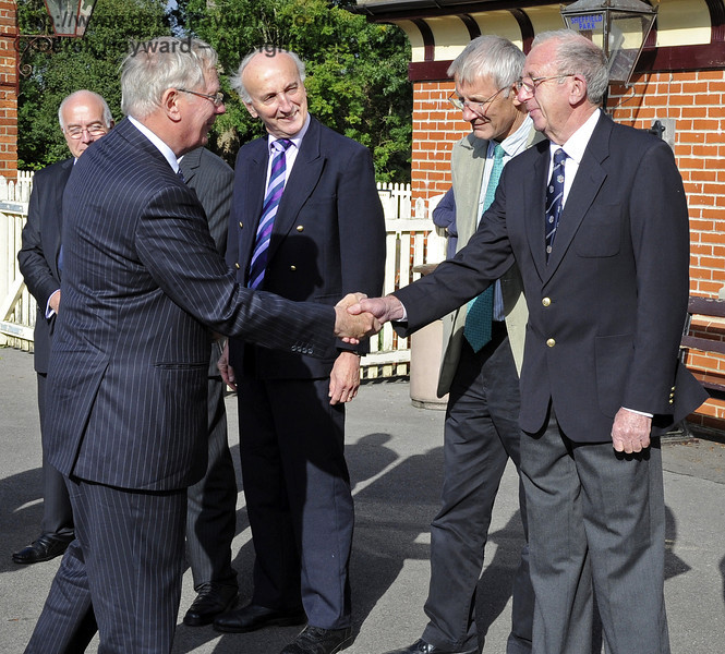 Maurice Hare is presented to the Duke of Gloucester.  10.10.2013  8239
