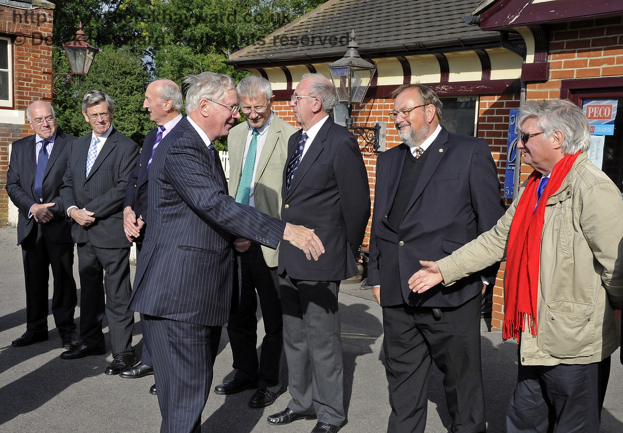 Allen Barnes is presented to the Duke of Gloucester.  On his right is Roger Boychuk. 10.10.2013  8242