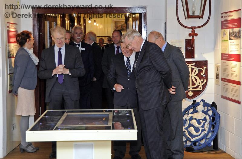 The Duke of Gloucester views the Bluebell Railway Museum.  10.10.2013  8278