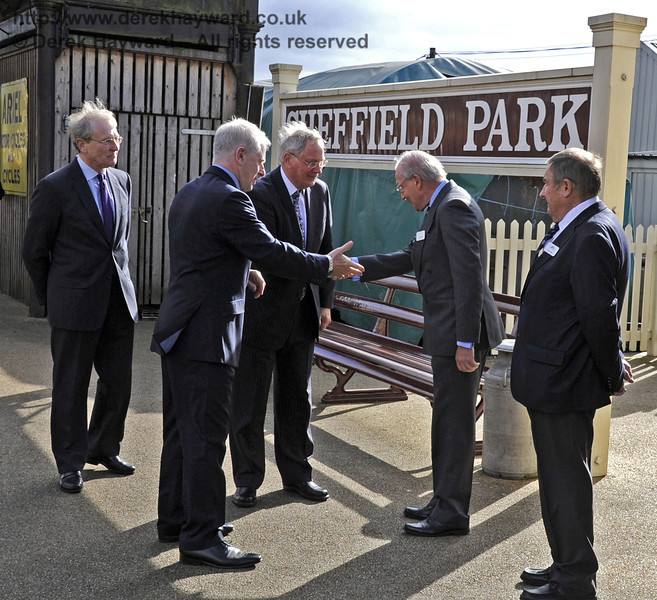 The Duke of Gloucester is introduced to Sam Bee, BRPS Vice Chairman and Museum Chairman.  10.10.2013  8257