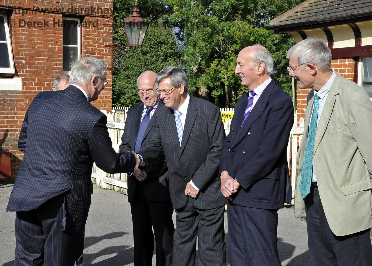 Brian Kidman is presented to the Duke of Gloucester. On his right is Michael Hopps.  10.10.2013  8234
